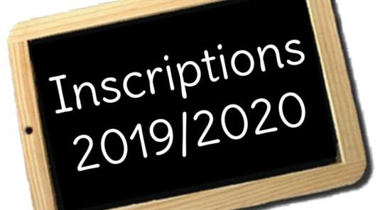 Informations inscriptions 2019/2020